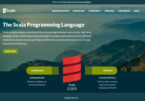 Scala インストール HelloWorld表示