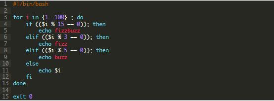 Bash(ShellScript) FizzBuzz問題挑戦