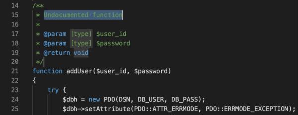 PHP DocBlocker インストール Visual Studio Code