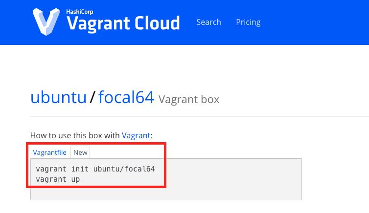 Vagrant Box detail