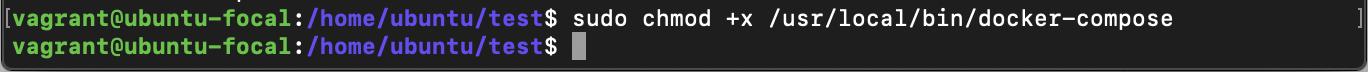 docker compose chmod