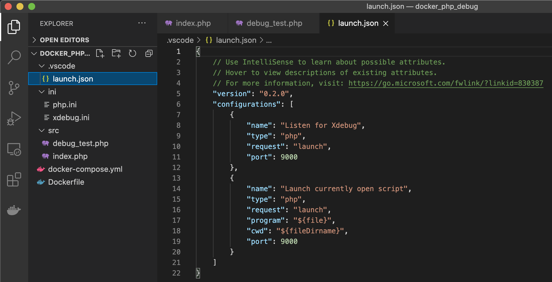 launch.json php