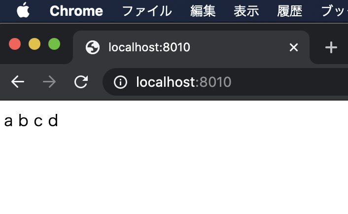 chrome localhost