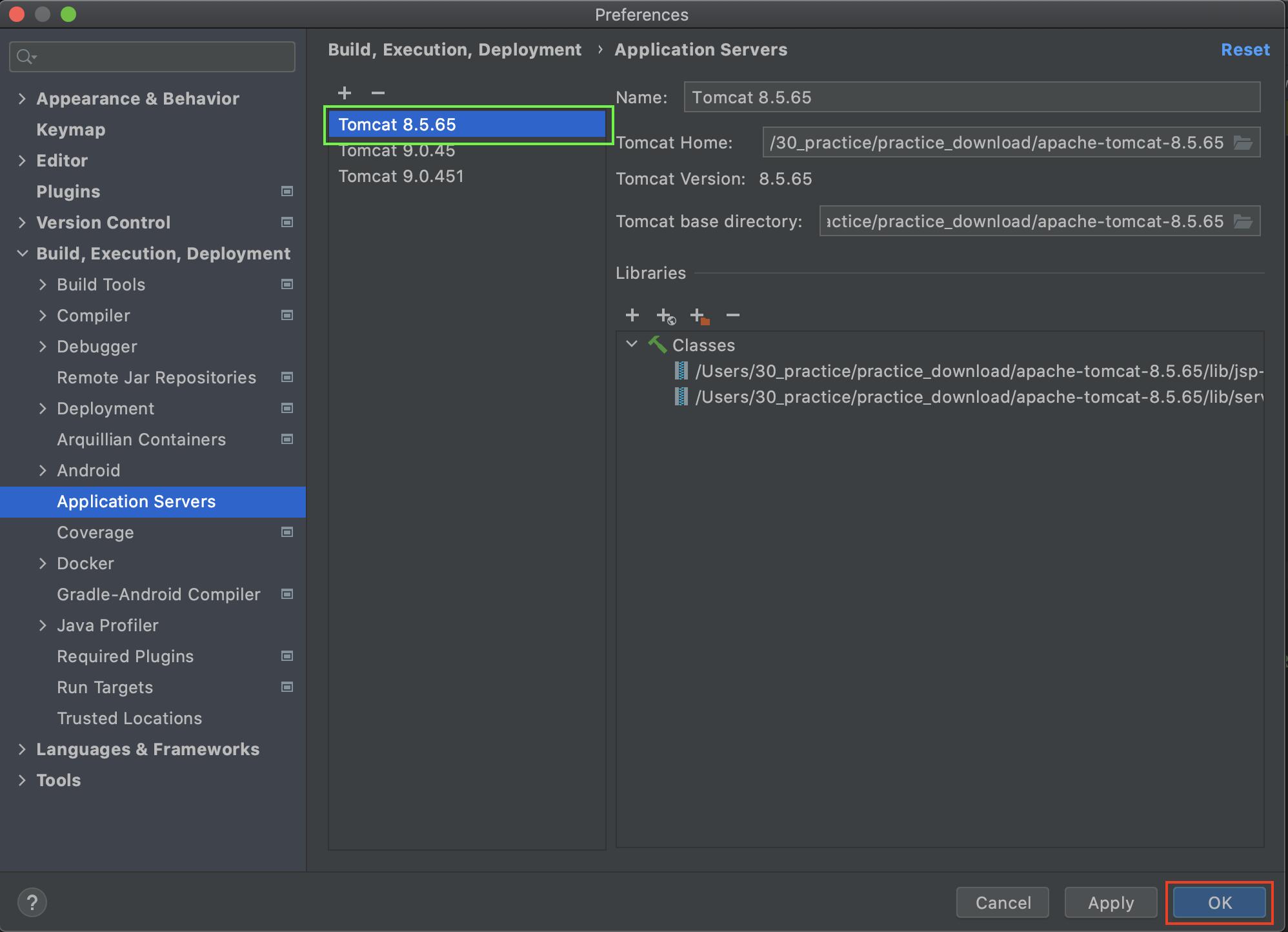 Intellij Build Deployment