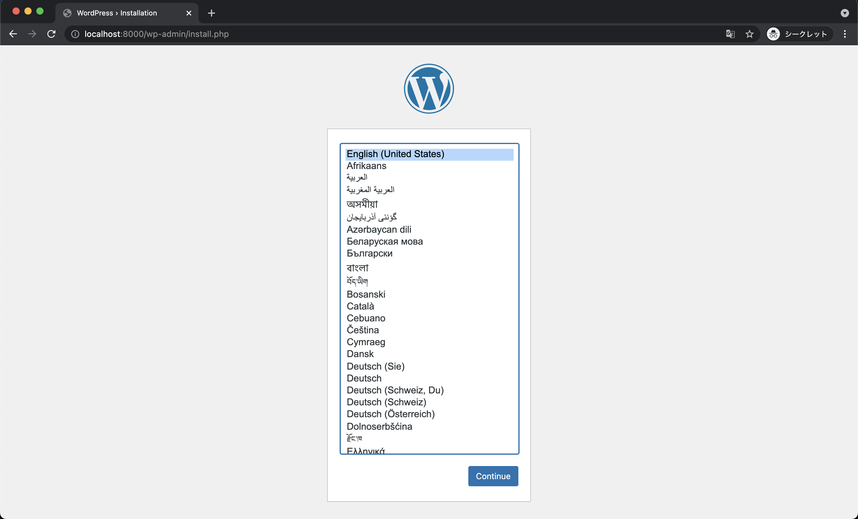 docker wordpress install